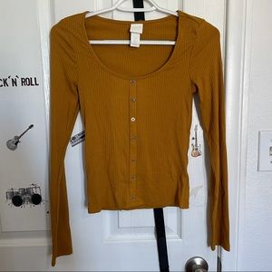 H&M Long Sleeve Button Up Shirt Size XS